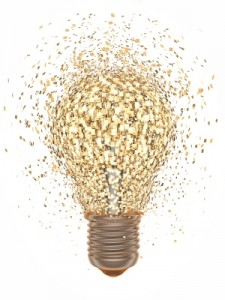 Lightbulb - signifying business model innovation