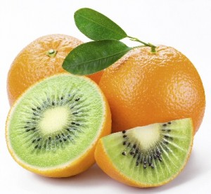 "Picture of orange with kiwi fruit inside -- visual metaphor for ""bespoke"""